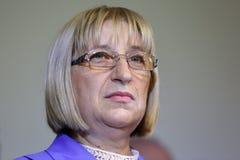 总统候选人Tsetska Tsacheva 免版税库存图片