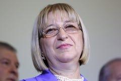 总统候选人Tsetska Tsacheva 库存照片
