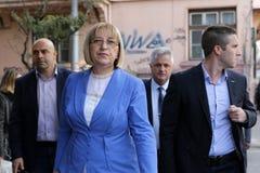 总统候选人Tsetska Tsacheva 库存图片
