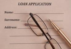 借款申请 免版税库存照片
