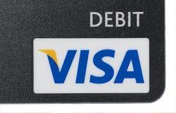 借项签证 免版税库存照片