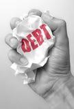 负债减少 免版税图库摄影