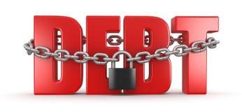 债务和锁(包括的裁减路线) 库存图片