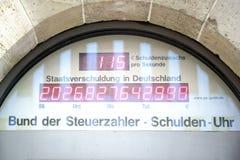 债务德国 免版税库存图片