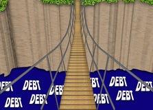 债务桥梁 图库摄影