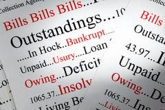 债务概念 免版税库存图片