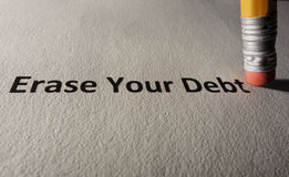 债务问题 免版税库存照片