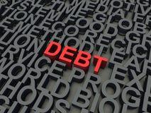 债务 免版税库存图片