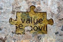 价值难题概念 库存照片