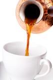 倾吐的咖啡 免版税库存图片