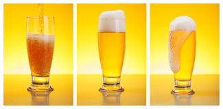 倾吐的啤酒 免版税库存照片