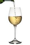 倾吐的白葡萄酒 免版税库存照片