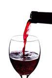 倾吐的红葡萄酒 免版税库存照片