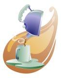 倾吐的茶茶壶 免版税库存图片