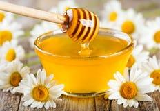 倾吐的蜂蜜 库存照片