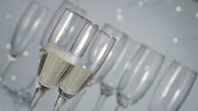 倾吐的香槟新年 股票录像
