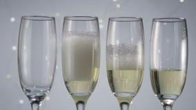 倾吐的香槟新年 影视素材