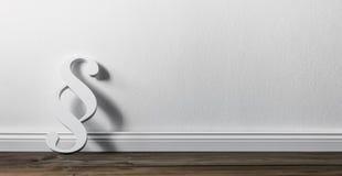 倾斜对墙壁的段 免版税库存图片