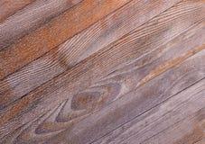 倾斜有实体木材年轮的样式的纹理对角委员会  图库摄影