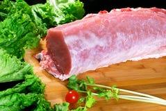 倾斜猪肉 免版税图库摄影