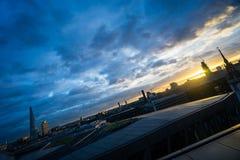 倾斜的伦敦天际 免版税图库摄影