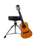 倾斜的吉他 免版税库存照片