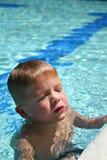 倾斜的游泳 免版税图库摄影