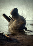 倾斜的潜水艇 免版税库存图片