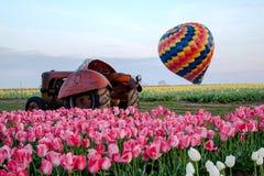 倾斜的热空气气球 免版税库存图片