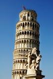 倾斜的piza塔 库存图片