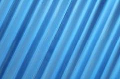 倾斜蓝色金属板纹理 免版税库存图片