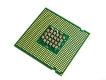 倾斜CPU 免版税库存照片
