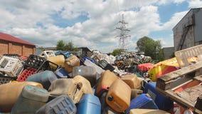 倾销工业废料-塑料残骸堆  库存图片
