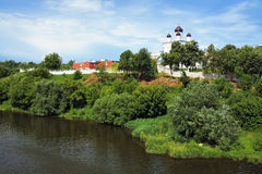 假定修道院奥勒尔号uspensky的俄国 免版税库存照片
