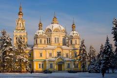 假定大教堂卡扎克斯坦 免版税库存照片