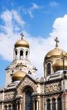 假定大教堂在瓦尔纳,保加利亚 库存图片