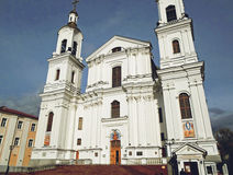 假定大教堂在维帖布斯克 免版税库存照片