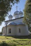 假定大教堂在Belozersk沃洛格达州地区 免版税库存照片