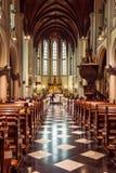 假定大教堂的内部圣玛丽,雅加达, Java,  库存图片