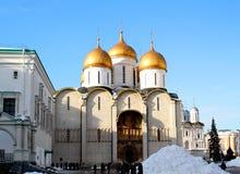 假定大教堂的照片在克里姆林宫 库存图片