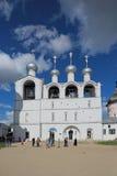 假定大教堂的钟楼 库存图片