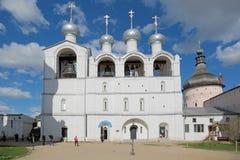 假定大教堂的钟楼 库存照片