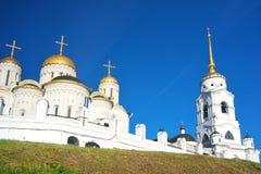 1158 1160年假定大教堂被修建的俄国夏天vladimir 库存照片