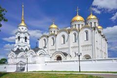 1158 1160年假定大教堂被修建的俄国夏天vladimir 免版税图库摄影