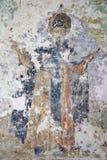 假定招标veliky教会的novgorod 17世纪的Znamensky大教堂 壁画 库存图片