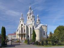 假定教会在德罗霍贝奇,乌克兰 免版税库存照片