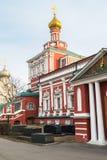 假定教会在Novodevichy女修道院,莫斯科 图库摄影