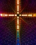 假定的圣玛丽大教堂的天花板  免版税库存图片