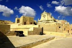 假定的大教堂在帝堡城di Arech 库存图片