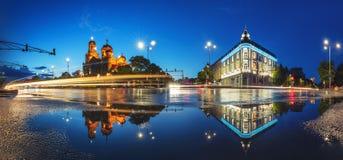 假定的大教堂在瓦尔纳,保加利亚 免版税库存图片